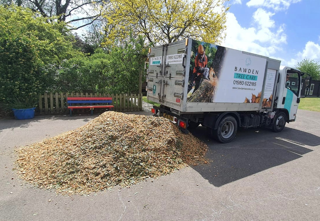 Bawden Tree Care Delivering Wood Chip