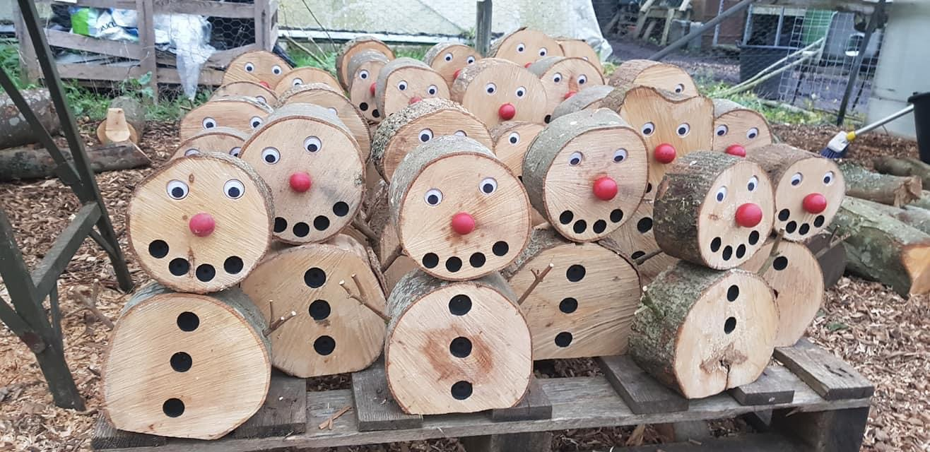Timber Snowman Decorations